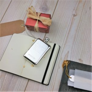 Sterling Silver Rectangular Hip Flask