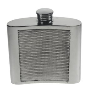 Personalised 4 oz Barley Pewter Kidney Hip Flask