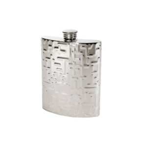 Personalised 6 oz Metropolitan Pewter Kidney Hip Flask