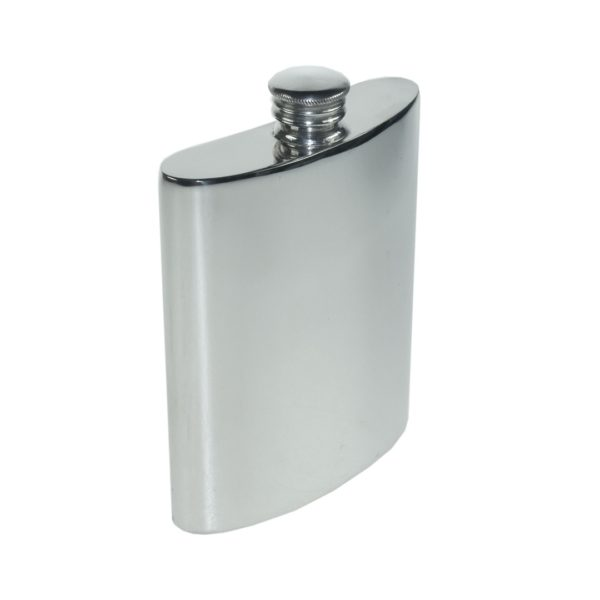 Personalised 6 oz Plain Pewter Kidney Hip Flask