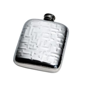 Personalised 4 oz Metropolitan Pewter Kidney Hip Flask