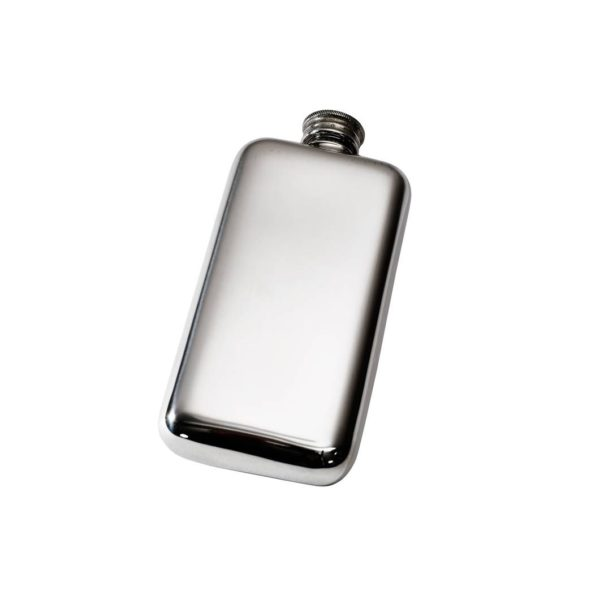 Personalised 3 oz Plain Pewter Pocket Hip Flask