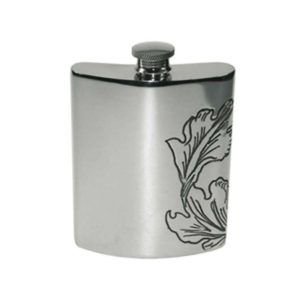 National Trust Kidney Engraved Hip Flask with Free Engraving