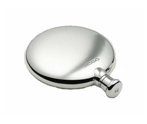Round 2.5oz Silver Hip Flask