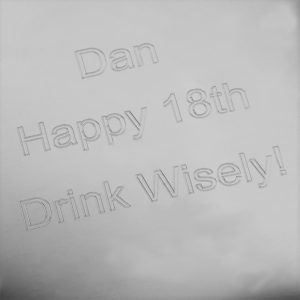 Personalised 21st Birthday Hip Flask