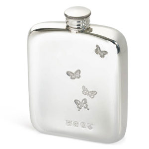 Personalised Ladies Butterfly Cushion Hip Flask