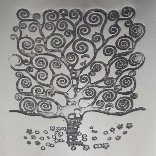 Personalised 6 oz Tree of Life Tree Pewter kidney Hip Flask